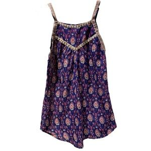 Raga Printed Camisole with Beaded Detail